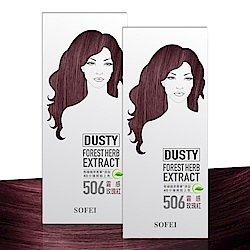 舒妃SOFEI 型色家植萃添加護髮染髮霜 506霧感玫瑰紅 2入組