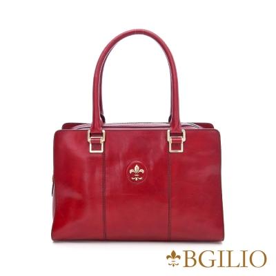義大利BGilio - 復古牛皮方包(大款) - 紅色 1561.003A-01