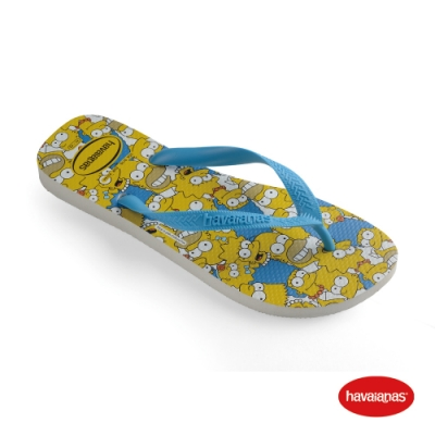 Havaianas 哈瓦仕 拖鞋 夾腳拖 人字拖 辛普森家族 巴西 童鞋 兒童 白/藍綠色/白 4137889-7033K Kids Simpsons