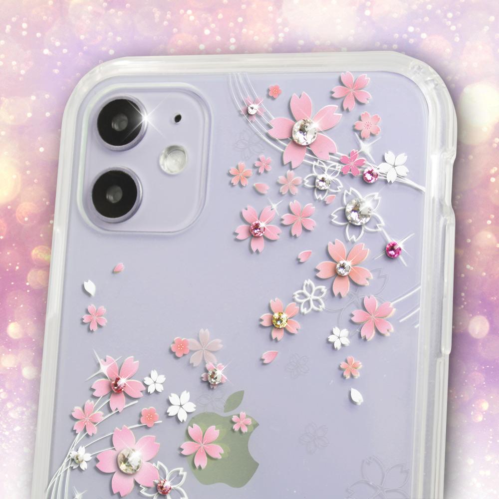 apbs iPhone全系列施華彩鑽防震雙料手機殼-天籟之櫻 product image 1