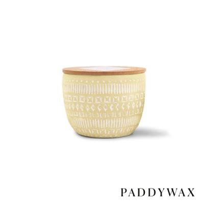 PADDYWAX 美國香氛 Sonora系列 梅耶檸檬 原木蓋復刻浮雕陶罐 283g