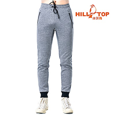 【hilltop山頂鳥】男款刷毛保暖長褲H31ML0實樣灰