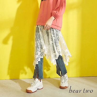 beartwo 浪漫唯美蕾絲緹花拼接洋裝(二色)