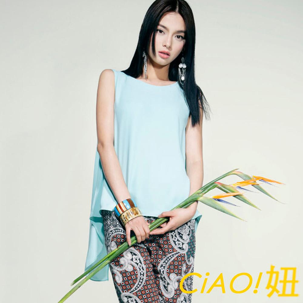 時尚糖果色飄逸雪紡背心 (共三色)-CIAO妞