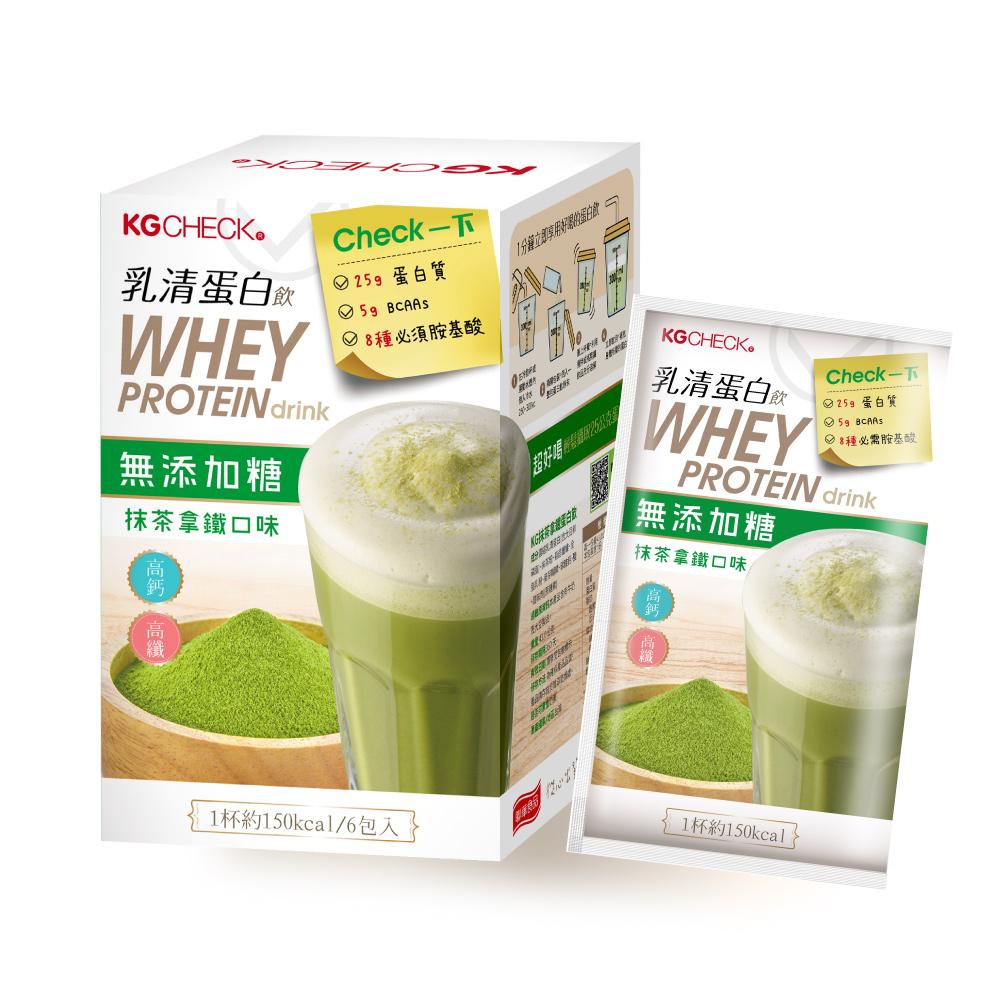聯華生醫KGCHECK KG蛋白飲抹茶拿鐵口味(43gx6包)