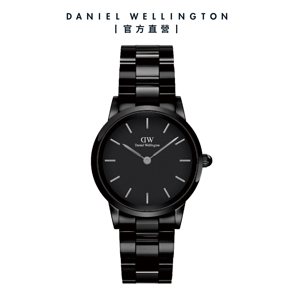 【Daniel Wellington】官方直營 Iconic Link Ceramic 32mm 曜石黑陶瓷錶 DW手錶