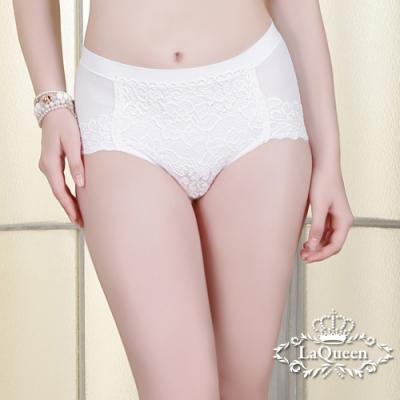 塑褲  雙面彈力提臀蠶絲輕塑褲-白 La Queen