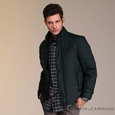 ROBERTA諾貝達 禦寒保暖 經典厚舖棉夾克外套ROE69-98墨綠