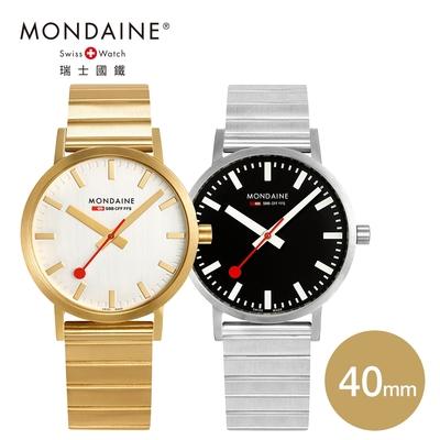 MONDAINE 瑞士國鐵 SBB Classic Metal腕錶 - 40mm 金色/黑色