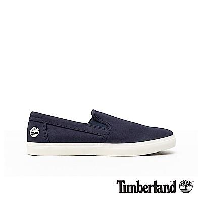 Timberland 男款海軍藍帆布休閒便鞋|A1XA5