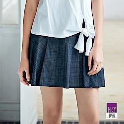 ILEY伊蕾 微展荷葉造型褲裙(藍)