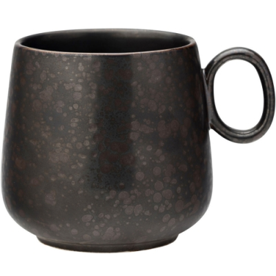 《Utopia》寬底瓷製馬克杯(鐵黑340ml)