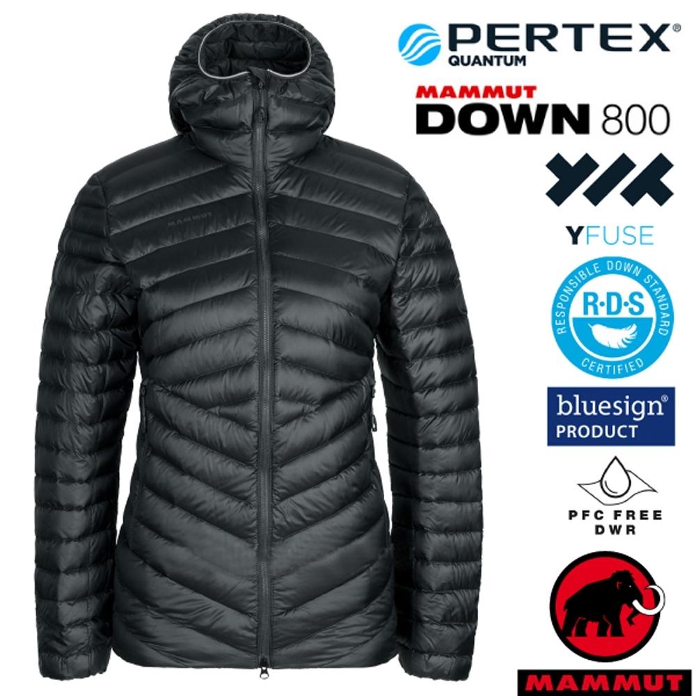 長毛象 女新款 Broad Peak IN 輕量保暖防風防潑連帽羽絨外套.夾克_黑/幻影黑
