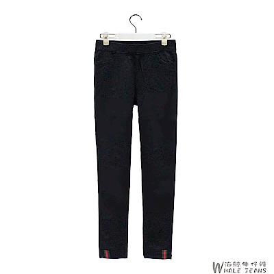 WHALE JEANS 注目精選韓版素色拼接休閒中低腰長褲
