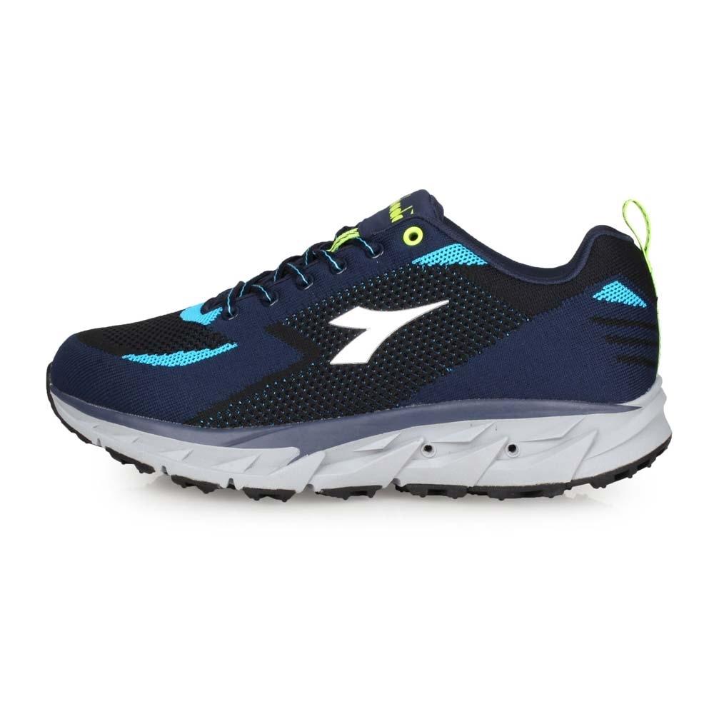DIADORA 男 戶外越野鞋-寬楦 丈青黑水藍