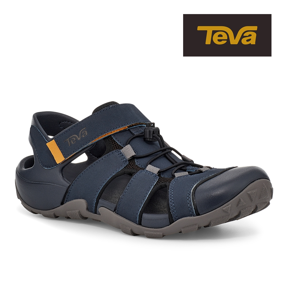 【TEVA】原廠貨 男 Flintwood 護趾快扣冒險者運動涼鞋/雨鞋/水鞋(深藍色-TV1118941TOEC)
