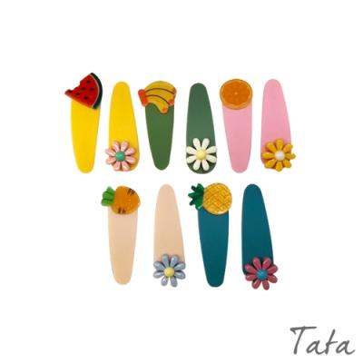 童裝 水果小花造型髮夾-五入 TATA KIDS
