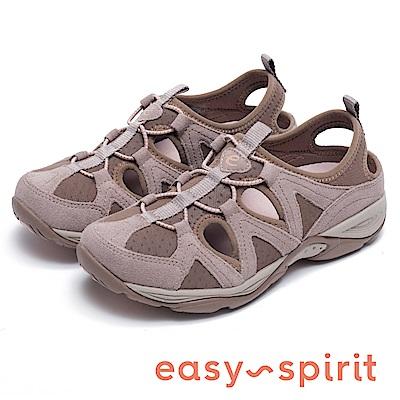 Easy Spirit EARTHEN-舒適包覆簍空休閒鞋-咖啡