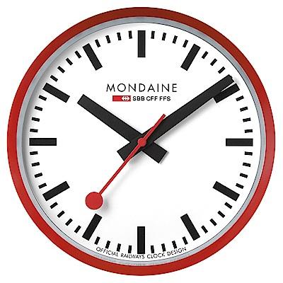 MONDAINE 瑞士國鐵經典掛鐘/40cm-紅