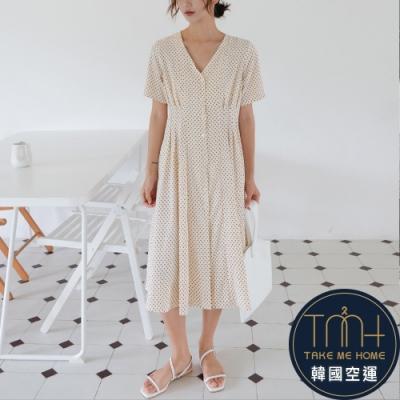 韓國空運 修身質感連身裙-TMH