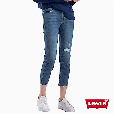 Levis 女款 男友褲 中腰寬鬆版牛仔長褲 Boyfriend Fit 刷破