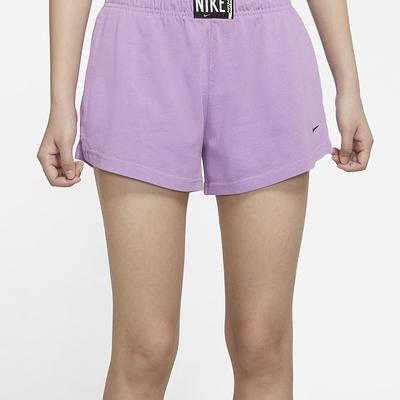 NIKE 短褲  運動褲  女款 紫 CZ9858597 AS W NSW WASH SHORT HR