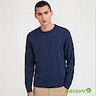 bossini男裝-圓領針織線衫01藍紫