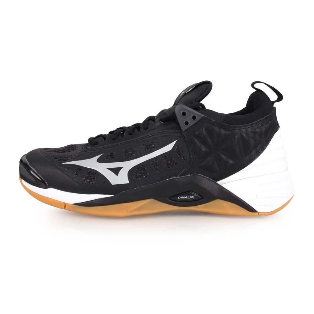 MIZUNO WAVE MOMENTUM 男排球鞋-排球  黑灰白