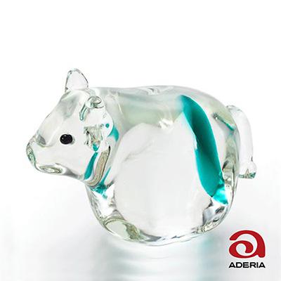 日本Aderia 手作玻璃幸運生肖擺飾-丑(牛)