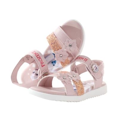 魔法Baby  中大女童鞋 台灣製冰雪奇緣正版大女孩俏麗涼鞋 sa14133