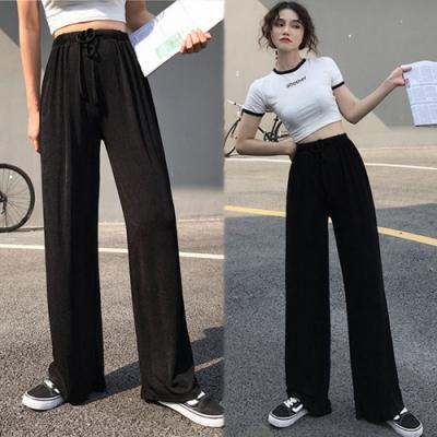 【韓國K.W.】韓國氣息踏青休閒運動闊腿褲-2色