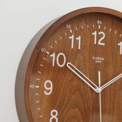 完美主義 無印風質感木紋掛鐘/時鐘/壁鐘(2色)