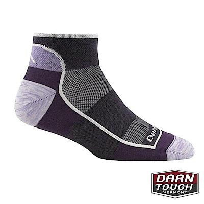 【美國DARN TOUGH】女羊毛襪SOLID 1/4越野運動襪(2入隨機)