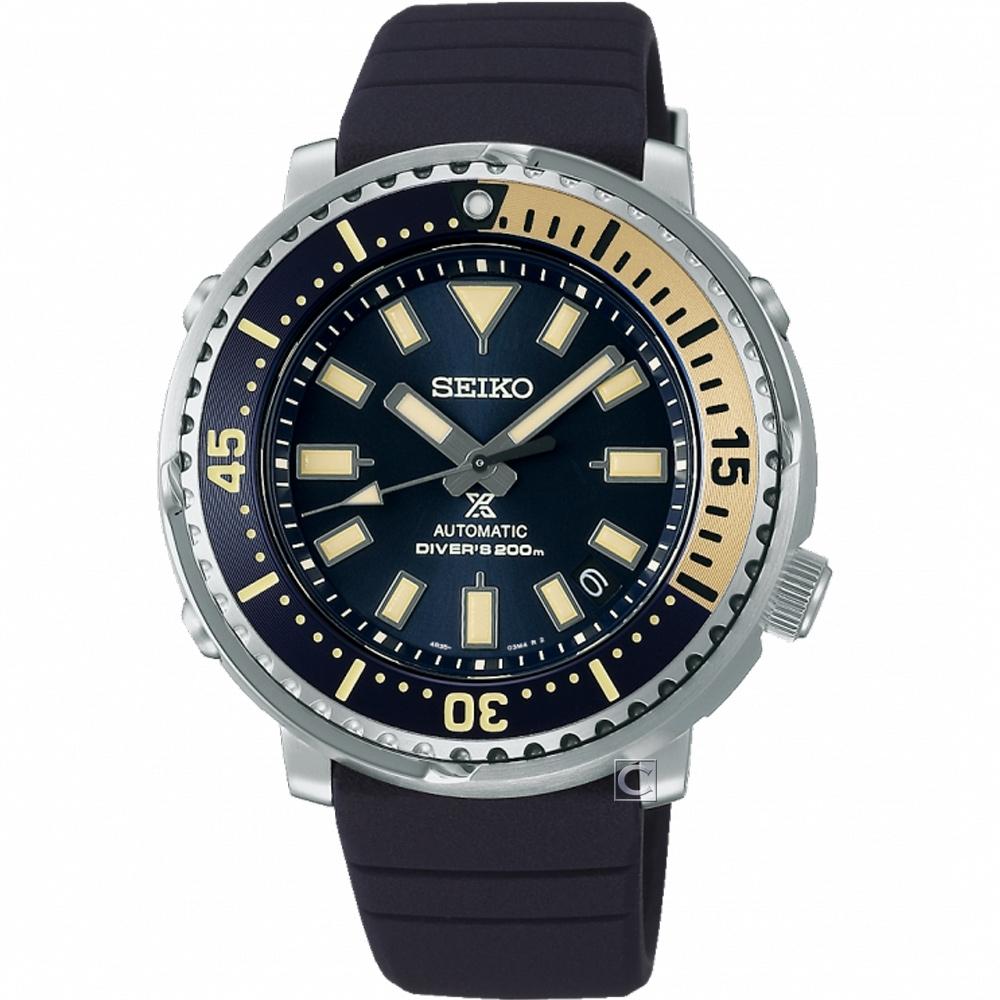 SEIKO 精工 PROSPEX 怒海潛降200米潛水機械錶(4R35-04L0B)SRPF81K1