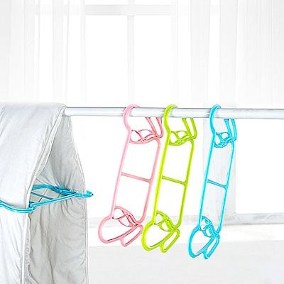 Conalife 防風防滑通風晒被撐架夾 2支/組(36*16CM) 顏色隨機