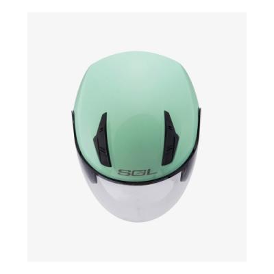 【SOL】SO-8 素色 薄荷綠 3/4罩(安全帽│半罩│小頭款│GOGORO)