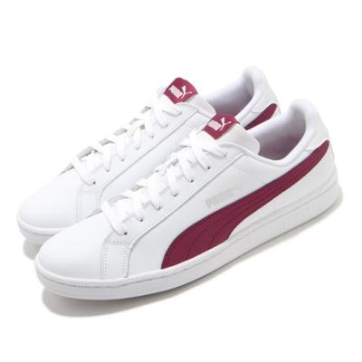 Puma 休閒鞋 Smash L 復古 低筒 男女鞋 皮革鞋面 基本款 穿搭推薦 情侶 白 紅 35672223