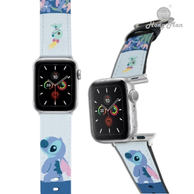 【Hong Man】迪士尼系列  Apple Watch 皮革錶帶 Stitch史迪奇 38/40mm