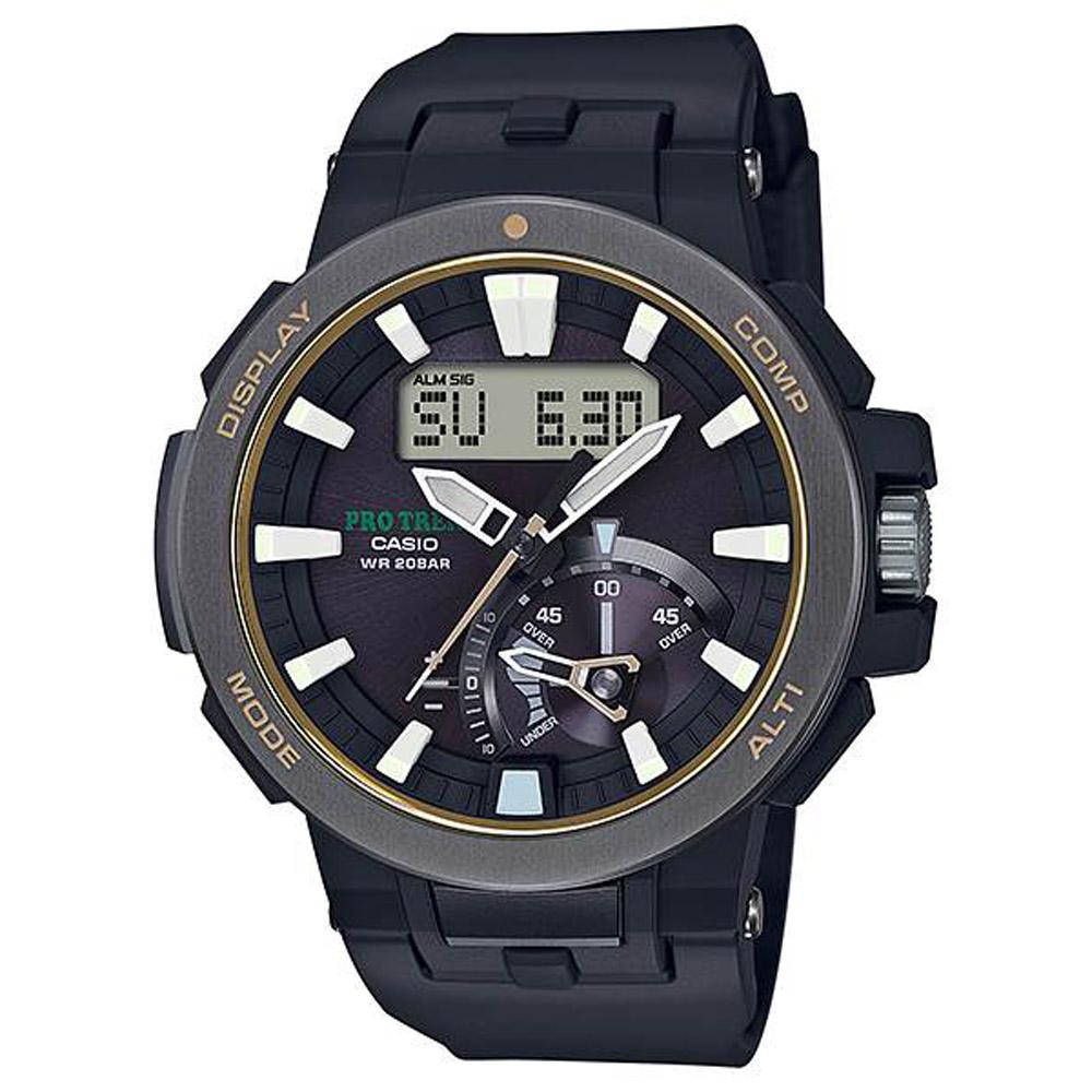 CASIO PRO TREK 超大LCD戶外活動登山錶(PRW-7000-1B) @ Y!購物