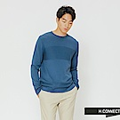 H:CONNECT 韓國品牌 男裝-質感造型針織上衣-藍