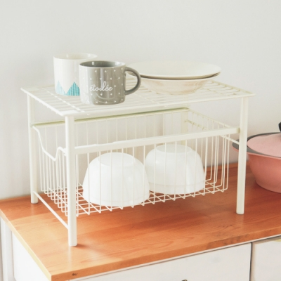 完美主義 拉式瓶罐收納架/置物架/瀝水架/餐具收納