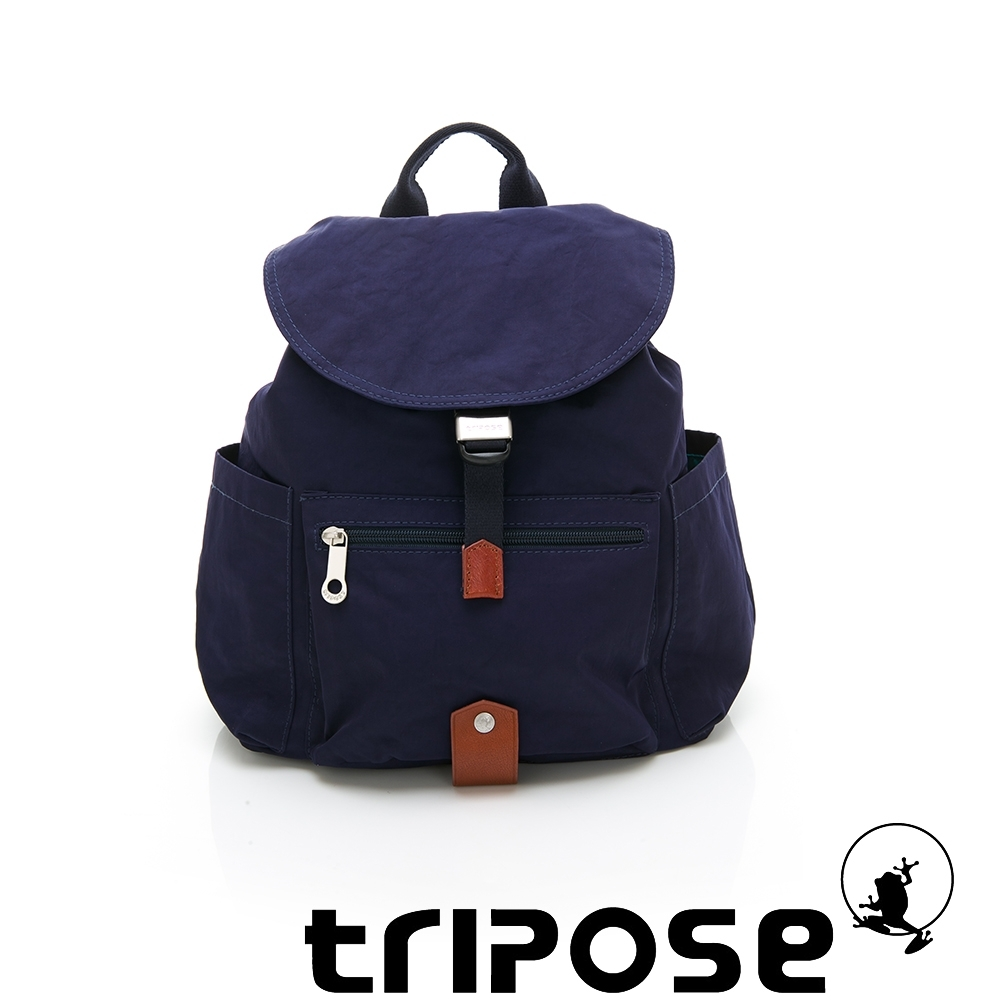 tripose MEMENTO系列微皺尼龍經典輕量後背包(小) 深海藍