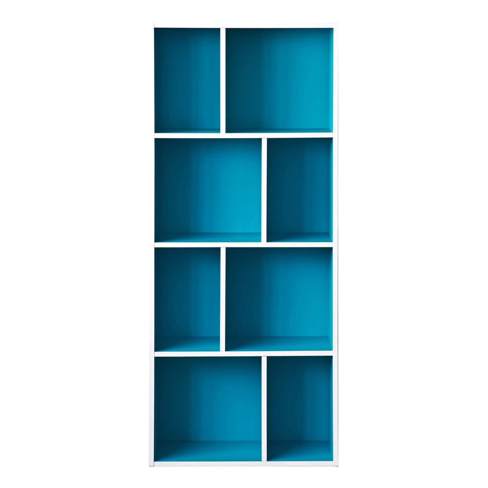 TZUMii 超穩固和風四層八格櫃-藍色