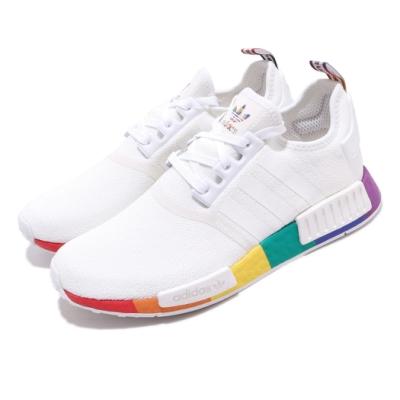 adidas 休閒鞋 NMD R1 Pride 襪套式 男女鞋 愛迪達 彩虹驕傲 流行款 Boost 穿搭 白彩 FY9024