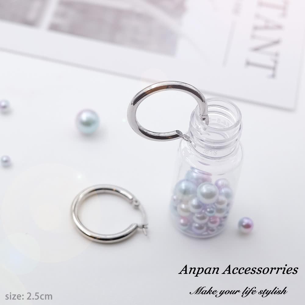 【全館6折ANPAN】日韓經典CLASSIC百搭圓圈耳環-大2.6cm