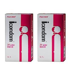 FUJI-NEO ICONDOM 艾康頓 環環相戀 衛生套 保險套 12入/盒x2盒