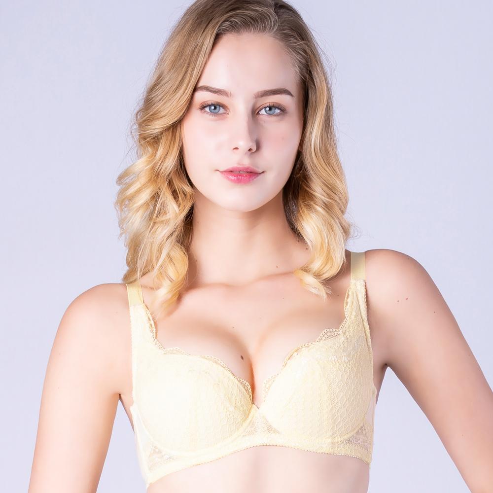 思薇爾 晴星系列B-F罩蕾絲包覆內衣(晨光黃)