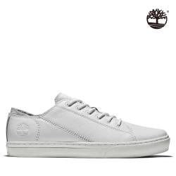 Timberland 男款冰雪色織布布蘭克林鞋|A2D8