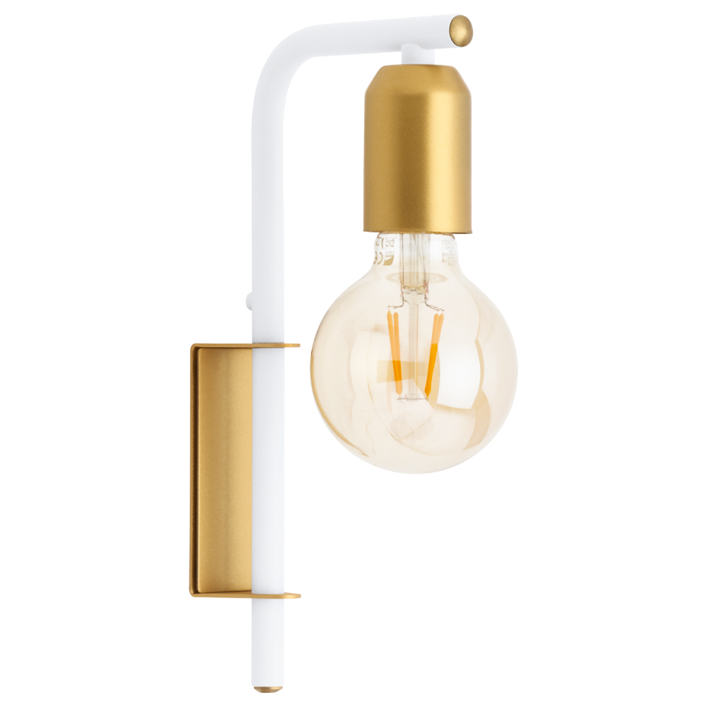 EGLO歐風燈飾 現代雙色單燈直立式壁燈(不含燈泡)