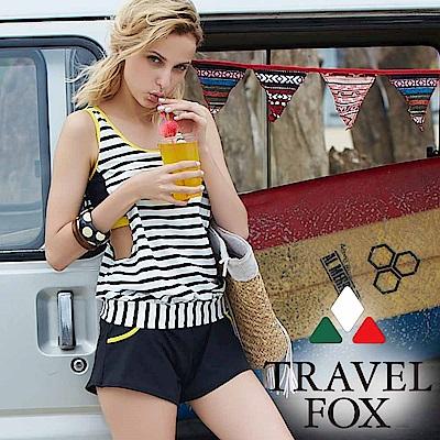 夏之戀TRAVEL FOX 加大碼大女長版二件式泳衣
